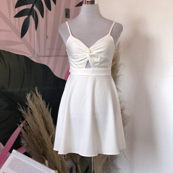 vestido corto color blanco - ecuador - ropa gallardo