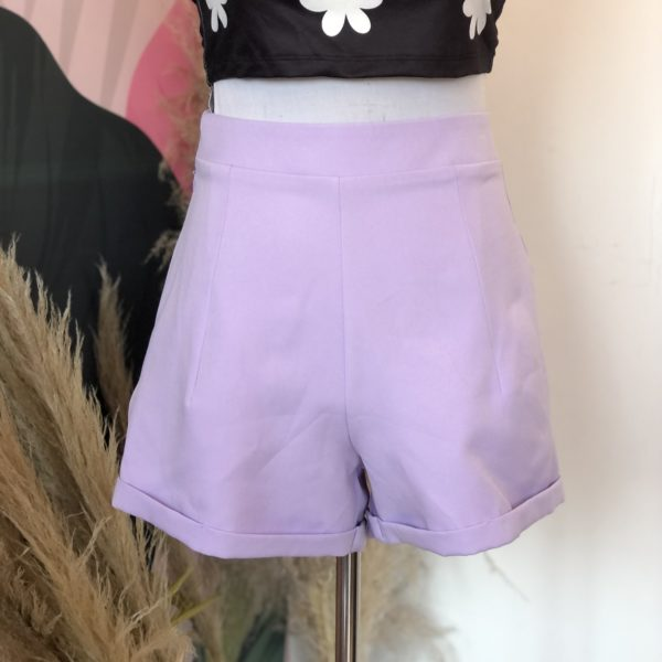 short lila de tela - ropa gallardo - ecuador
