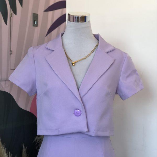 blazer lila de tela - ropa gallardo - ecuador