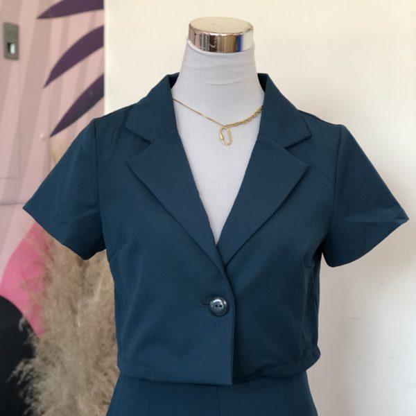 blazer corto verde oscuro - ropa gallardo - ecuador
