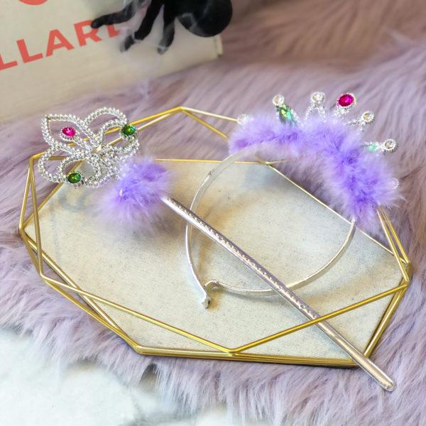 corona y varita lila - halloween - ecuador