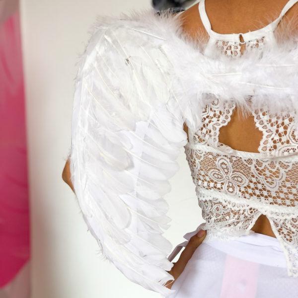 accesorio de ángel blanco con elástico para sujetar - ecuador - ropa gallardo - halloween