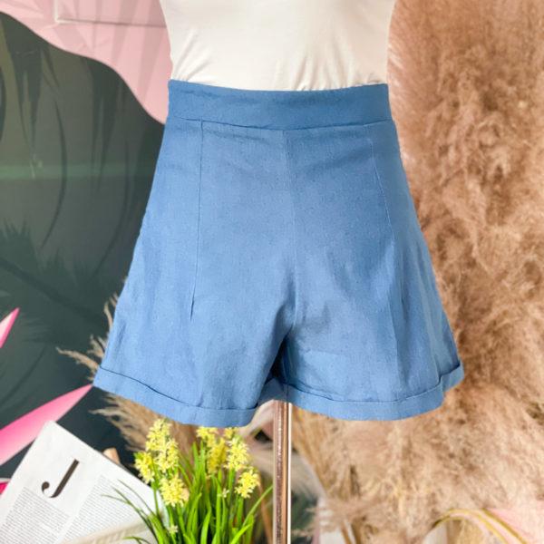 short azul de tela - ropa gallardo - ecuador