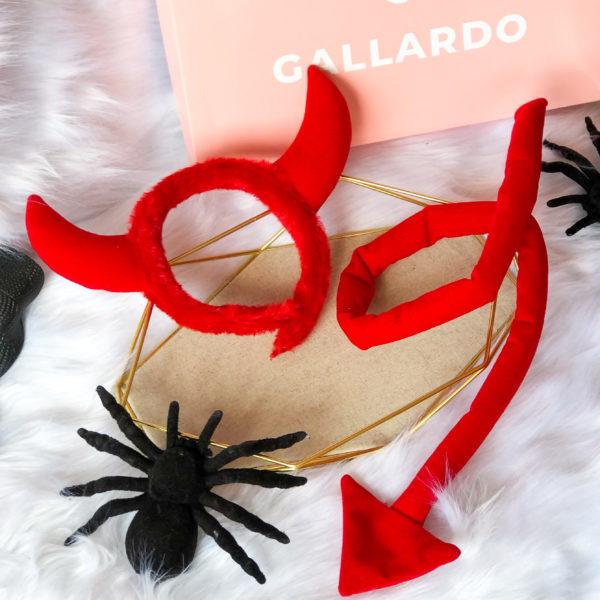 accesio de diabla color rojo - halloween - ropa gallardo - ecuador