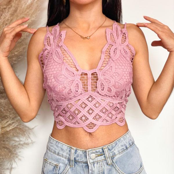 bralette rosado con transparencias - ecuador - ropa gallardo